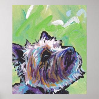 Cairn Terrier Bright Pop Art Print Poster