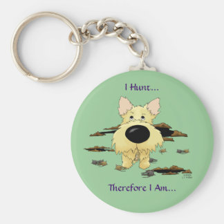Cairn Terrier (Cairn Terriers) - I Hunt.. Keychain
