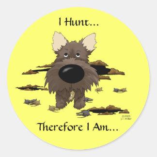 Cairn Terrier (Cairn Terriers) - I Hunt.. Stickers