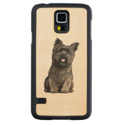 Carved ® Samsung Galaxy S5 Slim Wood Case with Cairn Terrier Phone Cases design