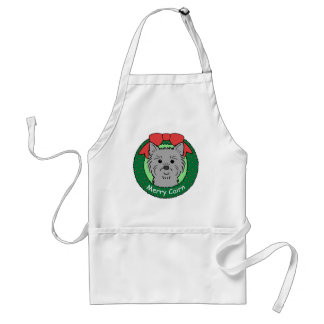 Cairn Terrier Christmas Adult Apron