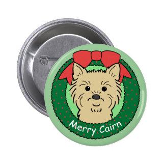 Cairn Terrier Christmas Button