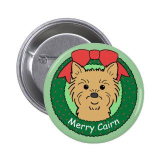 Cairn Terrier Christmas Buttons