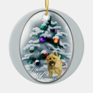 Cairn Terrier Christmas Gifts Ornament