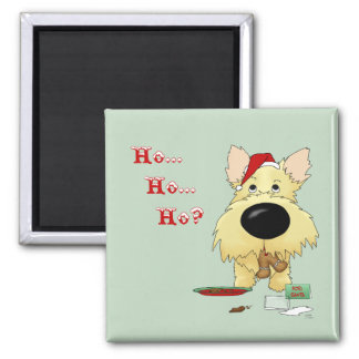 Cairn Terrier Christmas Refrigerator Magnets