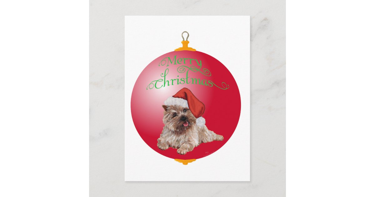 Cairn Terrier Christmas Ornaments Holiday Postcard ...