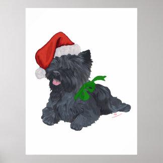 Cairn Terrier Christmas Print