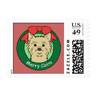 Cairn Terrier Christmas Stamp
