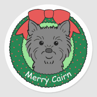 Cairn Terrier Christmas Stickers