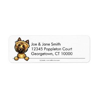 Cairn Terrier Clean & Simple Custom Return Address Labels