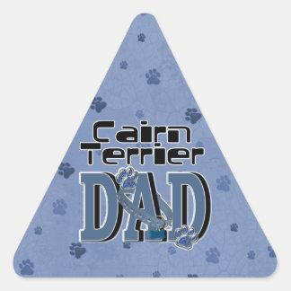 Cairn Terrier DAD Triangle Sticker