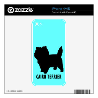 Cairn Terrier Decal For iPhone 4