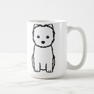 Cairn Terrier Dog Cartoon Coffee Mug