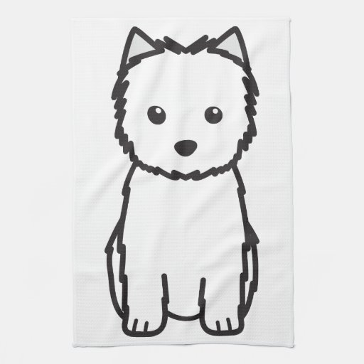 Cairn Terrier Dog Cartoon Kitchen Towel