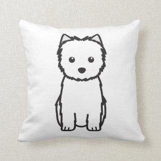 Cairn Terrier Dog Cartoon Pillows