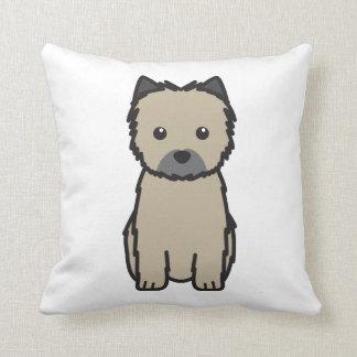 Cairn Terrier Dog Cartoon Throw Pillows