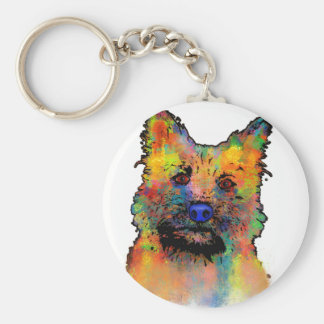Cairn Terrier Dog Keychain