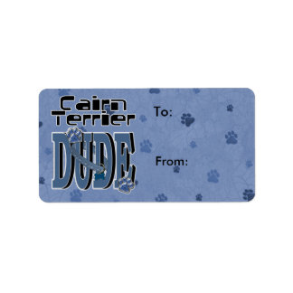 Cairn Terrier DUDE Label