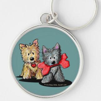 Cairn Terrier Duo Keychain