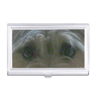 cairn terrier eyes case for business cards