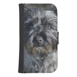Samsung Galaxy S4 Wallet Case with Cairn Terrier Phone Cases design