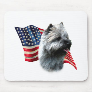 Cairn Terrier Flag Mouse Pad