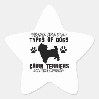 CAIRN TERRIER gift items Star Sticker