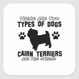 CAIRN TERRIER gift items Square Sticker