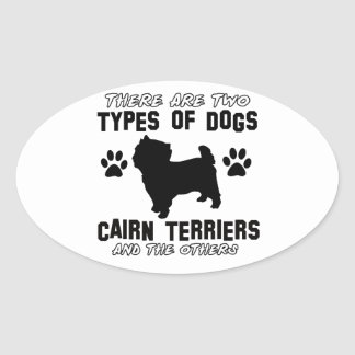 CAIRN TERRIER gift items Oval Sticker