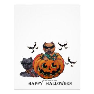 Cairn Terrier Halloween Letterhead