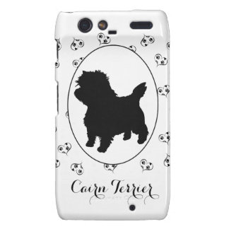 Cairn Terrier Hearts and Paw Prints Motorola Droid RAZR Cover