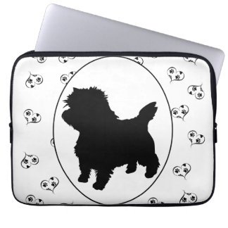 Cairn Terrier Hearts and Paw Prints Laptop Computer Sleeve