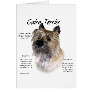 Cairn Terrier History Design Card