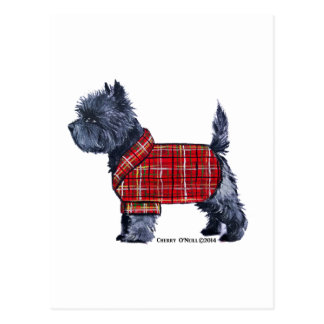 Cairn Terrier Holiday Postcard