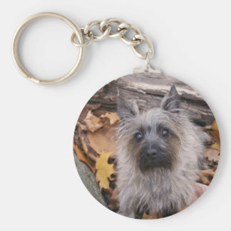 Cairn Terrier in Autumn Keychain