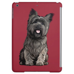 Case Savvy Glossy Finish iPad Air Case with Cairn Terrier Phone Cases design