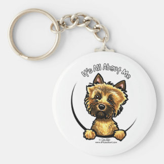 Cairn Terrier Its All About Me Basic Round Button Keychain