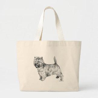 Cairn Terrier Large Tote Bag