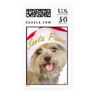 Cairn Terrier Let It Snow Postage