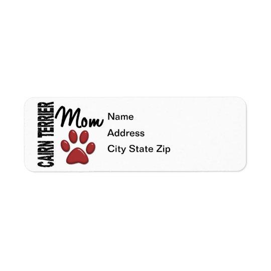 Cairn Terrier Mom 2 Label