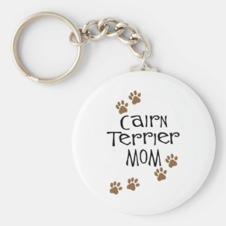 Cairn Terrier Mom Keychain