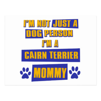 Cairn Terrier Mommy Postcard