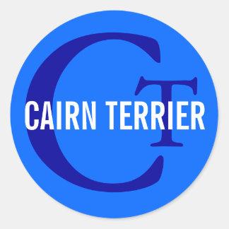 Cairn Terrier Monogram Round Stickers