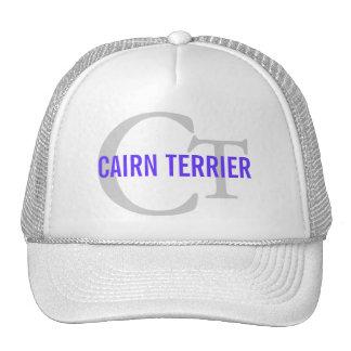 Cairn Terrier Monogram Trucker Hat