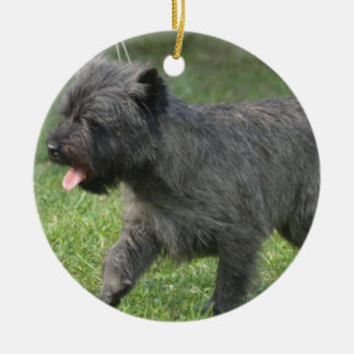 Cairn Terrier Double-Sided Ceramic Round Christmas Ornament
