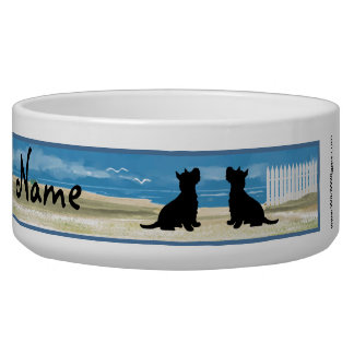 Cairn Terrier Personalized Large Bowl Pet Water Bowls