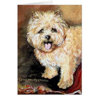 Cairn Terrier Portrait Card