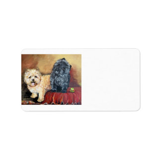 Cairn Terrier Portrait Custom Address Label