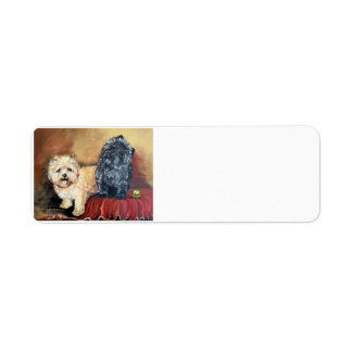 Cairn Terrier Portrait Custom Return Address Labels