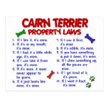 CAIRN TERRIER Property Laws 2 Postcards